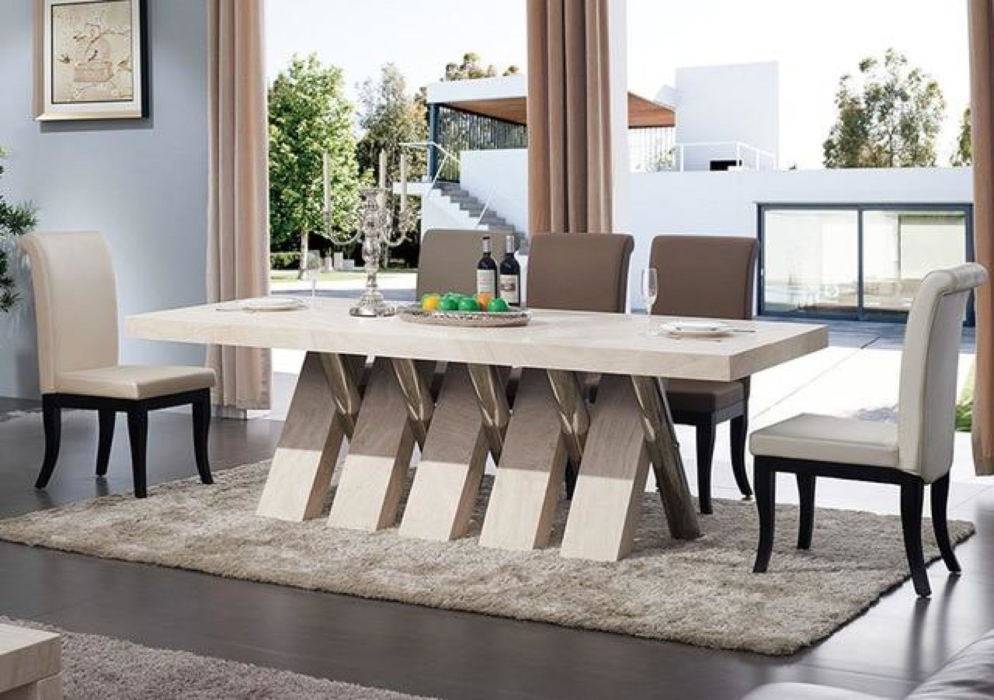 Marble Shine 10 Seater Dining Table Set Furniture My Aashis