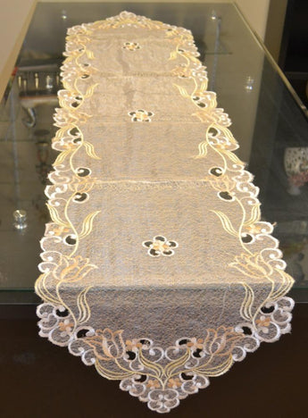 Floral Embroidered Table Runner - My Aashis