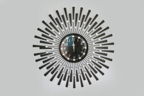 Black Drop Wall Clock Decorative Metal Wall Clock - My Aashis