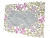 Set of 6 Fancy Flowers Embroidered Cutwork Spring Placemats, 11 by 17-Inch, Multi-Color - My Aashis