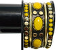 Designers Black Metallic Golden and Yellow Stone Bracelet - My Aashis