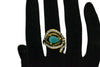 Designer Ad Ring with Black Stone - My Aashis