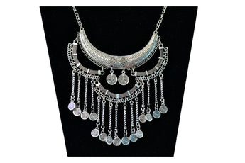 Antique Silver-Toned Layered Necklace - My Aashis