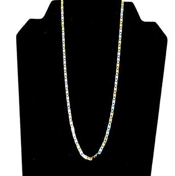 Starlight Gold Shiny Oval Link Unisex Chain - My Aashis