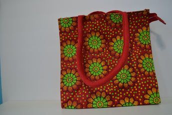 Orange Tote Jute Bag