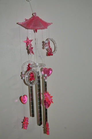 Pink Color Crystal Wind Chimes - My Aashis