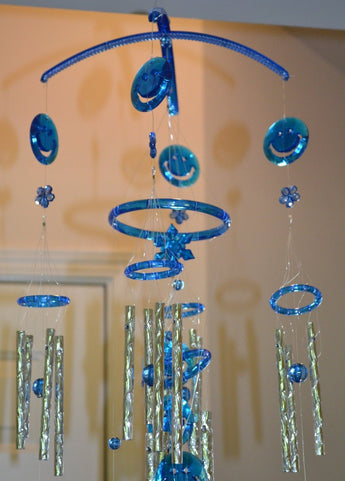Blue Color Crystal Wind Chimes - My Aashis