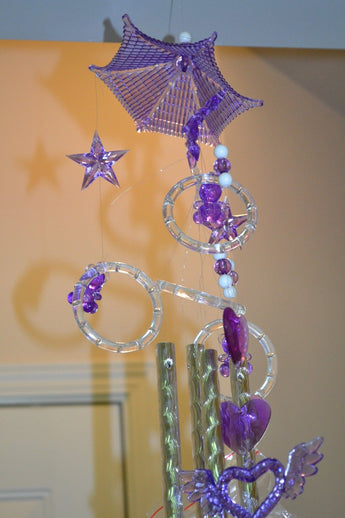 Purple Color Crystal Wind Chimes - My Aashis