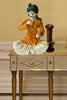 Orange Polyresin Rajasthani Lady Showpiece - My Aashis