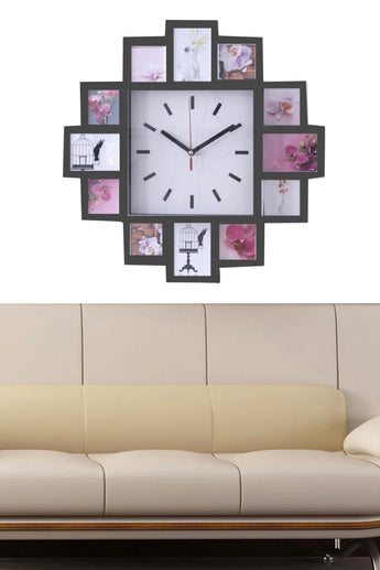 Wall clock with photo frame collage With 2 Colors Black and White