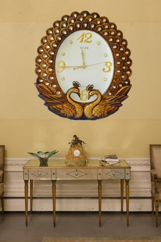 European-style Peacock Wall Clock - My Aashis