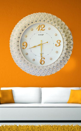 Italian design polyresin handicrafts wall clock
