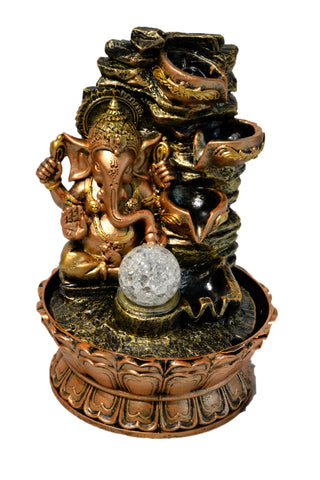 Indoor Tabletop Ganesha Water Fountain - My Aashis
