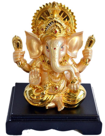 Lord Ganesh Beautiful Statue Hindu Good Luck God - My Aashis