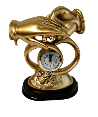 Bond of Marriage Sculpture Table Clock - Perfect Wedding Anniversary Gift