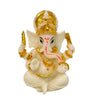 Ganesh Beautiful Statues Hindu Good Luck God (Blessing White Ganesha) - My Aashis