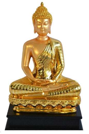 Meditating Golden Thai Buddha Peace Harmony Statue - My Aashis