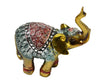 Gold Elephant Statue Resin Ornament Set Of 6 For Fortune - My Aashis