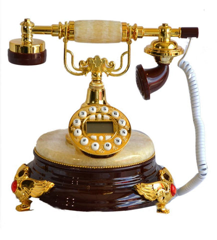 European Style Luxury Gifts Telephone Antique Retro Art Classical Rotary Dial - My Aashis