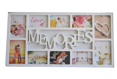 White Multi Photoframe Frames Memories Picture Wall Decor Photo Frame Gift - My Aashis