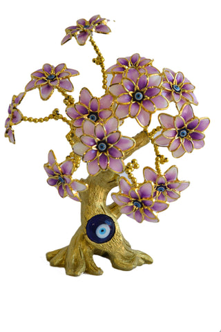 Evil Eye Butterfly Tree Decoration for Protection and Brings Good Luck (Pink)Tree - My Aashis