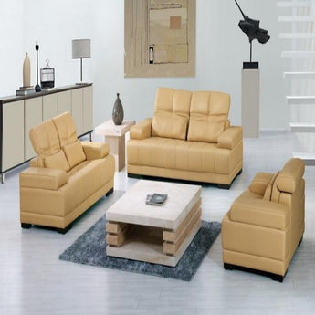High Grade Dermal Leather Sofa 1+2+3 Seater With Pillow