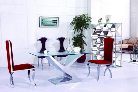 Royal Glass  Dining Table For Home Furniture - My Aashis