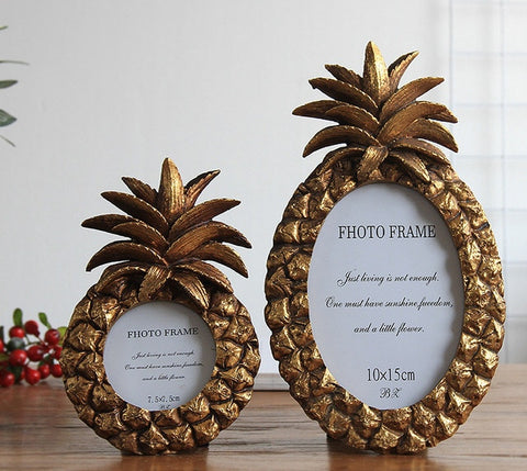 Modern Pineapple Photo Frame Resin Desktop Wonderful Gift or Table Décor - My Aashis