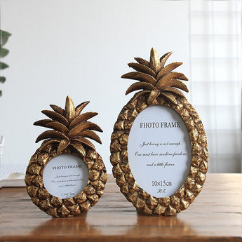 Modern Pineapple Photo Frame Resin Desktop Wonderful Gift or Table Décor