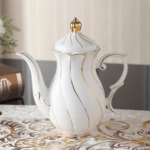 Porcelain Royal Weavy  Party Teapot Coffee Cup Set - My Aashis
