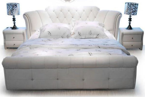 Trendy Button Tufted Destining King Size Bed - My Aashis