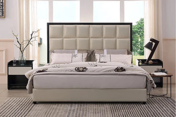 Modern Styles Genuine Leather Soft Bed For Home Or Hotel Furniture - My Aashis