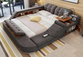 Fabric Cloth Modern Soft Beds For Home Bedroom Furniture - My Aashis