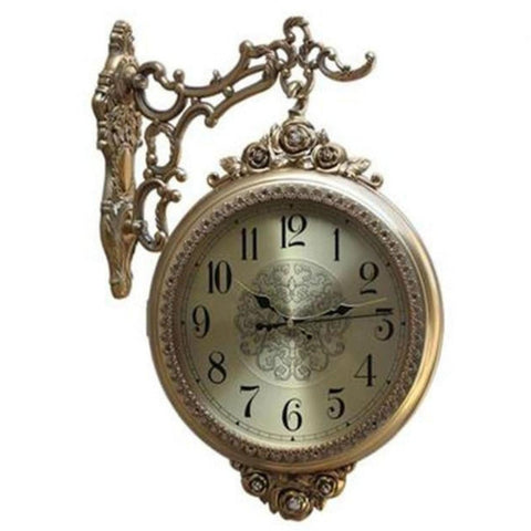 Antique Gold Finish Digital Decorative Wall Clock - My Aashis