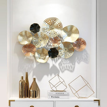 3D Creative Metal  Wall  Flowers Stereo Shadow Light