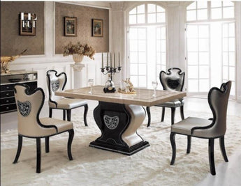 Luxury Dining Table And  Chairs Upholstery For Decor
