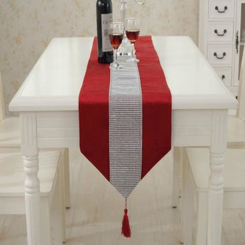 Stone Patchwork Party  Decoration  Table Runner