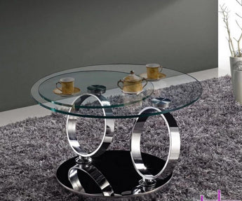 High Quality Rotating Glass Coffee Table  Furniture