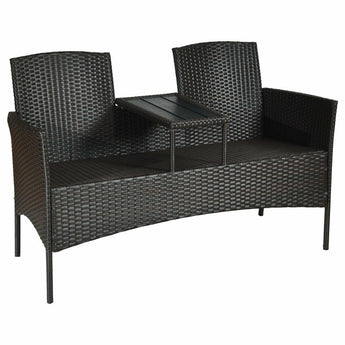 Exclusive Combo of Two Seater Patio Rattan Outdoor Furniture Set - My Aashis