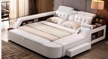 Storage Leather Bed For Living Room