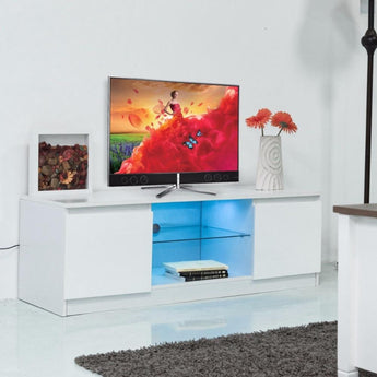 Modern LED TV  Stand With Shelf Cabinet - My Aashis