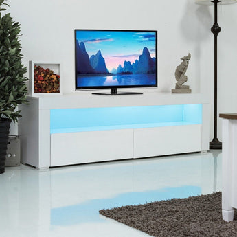 LED Media  Center With Shelves and Drawers - My Aashis