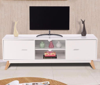 Modern Rich White  Entertainment Center