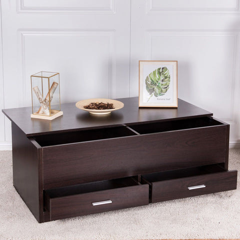 Bright Coffee Table with Deep Compartment - My Aashis