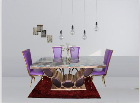 Great Quality Bright Marble Dining Table - My Aashis
