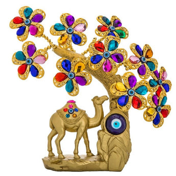 Golden Camel Blue Evil Eye Showpiece - My Aashis