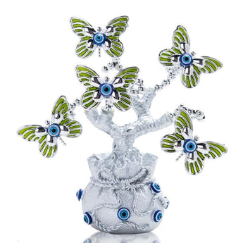 Stylish Turkish Evil Eye Tree Figurine - My Aashis