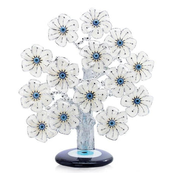 Table Top Polyresin Evil Eye Flower Tree - My Aashis