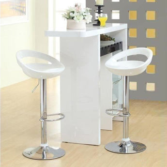 Movable Gas Lift Bar Stool with ABS Plastic Seat - My Aashis