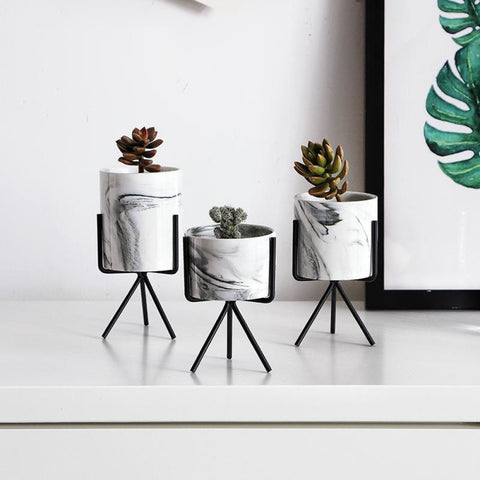 Creative Iron Tabletop Flower Pot For Home Decor